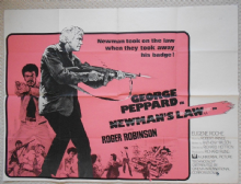 Newmans Law, Original UK Quad Poster, George Peppard, '74